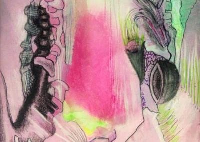 watercolor and pencils
